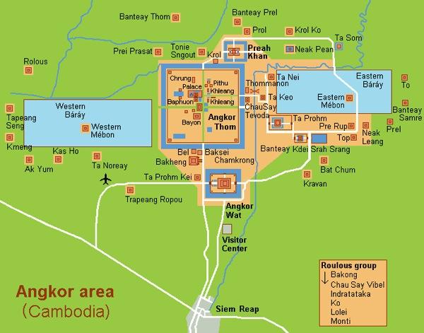 Angkor Karte
