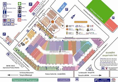 Chatuchak Weekend Market  Plan
