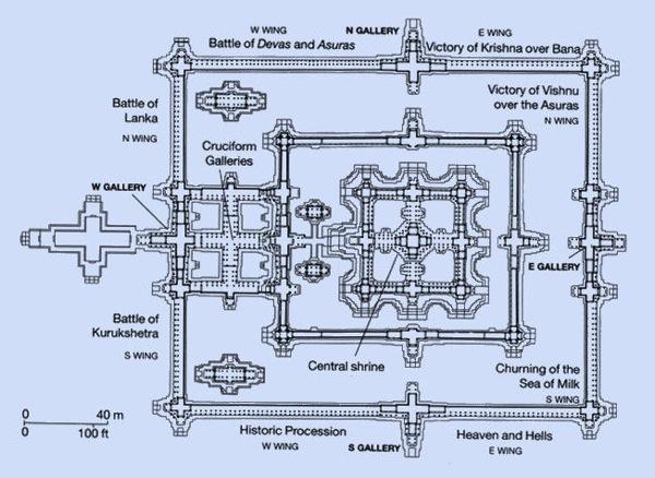 Karte Angkor Wat  angkorguide net